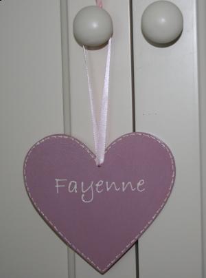 gepersonaliseerd houten hartjes 12 cm