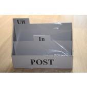 Groot Houten Postbak grijs