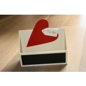 Houten postbak 'to do' met hart