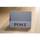 Houten Postbak grijs