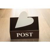 Bruin Houten Postbak met hart