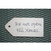 Houten Labeltje Kerstmis