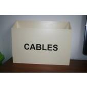 Grote houten bak Cables