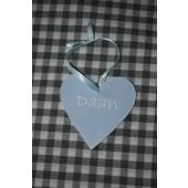 gepersonaliseerd houten hartje 10 cm