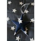 stoffen ster donkerblauw