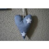 stoffen hart grijs ster